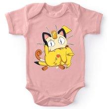 Body bébé (Filles)  parodique Pikachu et Miaouss : Le jeu du Chat et la Souris :) (Parodie )