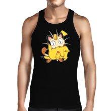 Débardeur  parodique Pikachu et Miaouss : Le jeu du Chat et la Souris :) (Parodie )