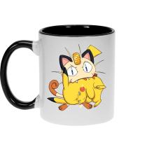 Mugs  parodique Pikachu et Miaouss : Le jeu du Chat et la Souris :) (Parodie )