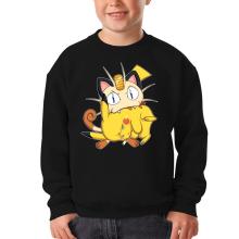 Pull Enfant  parodique Pikachu et Miaouss : Le jeu du Chat et la Souris :) (Parodie )