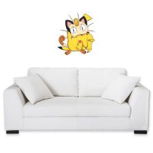 Sticker Mural  parodique Pikachu et Miaouss : Le jeu du Chat et la Souris :) (Parodie )