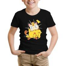 T-shirt Enfant  parodique Pikachu et Miaouss : Le jeu du Chat et la Souris :) (Parodie )