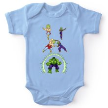 Funny  Baby Bodysuit - Broly, Piccolo and Hulk ( Parody) (Ref:674)