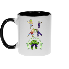 Mug  parodique Piccolo, Broly et Hulk : Les origines de la Puissance... (Parodie )