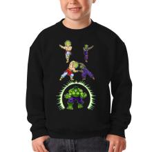 Pull Enfant  parodique Piccolo, Broly et Hulk : Les origines de la Puissance... (Parodie )