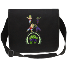 Funny  Canvas Messenger Bag - Broly, Piccolo and Hulk ( Parody) (Ref:674)