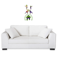 Funny  Wall Sticker - Broly, Piccolo and Hulk ( Parody) (Ref:674)