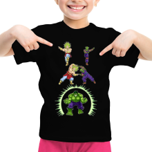 Funny  Girls Kids T-shirt - Broly, Piccolo and Hulk ( Parody) (Ref:674)