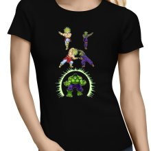 T-shirts Femmes  parodique Piccolo, Broly et Hulk : Les origines de la Puissance... (Parodie )