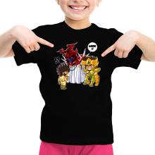 Funny  Girls Kids T-shirt - Gold Saint Leo Aiolia and Bronze Saint Pegasus Seiya ( Parody) (Ref:475)