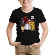 Funny  Kids T-Shirt - Gold Saint Leo Aiolia and Bronze Saint Pegasus Seiya ( Parody) (Ref:475)