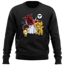 Funny  Sweater - Gold Saint Leo Aiolia and Bronze Saint Pegasus Seiya ( Parody) (Ref:475)