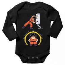 Funny  Long sleeve Baby Bodysuit - Son Goku ( Parody) (Ref:1075)