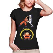 T-shirts Femmes  parodique Sangoku : Mac Fusion !! (Parodie )