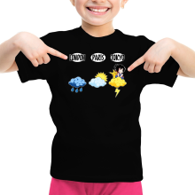 T-shirts  parodique Sangoku et Pikachu : Météo Tokyo :) (Parodie )
