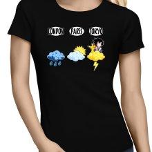 T-shirts Femmes  parodique Sangoku et Pikachu : Météo Tokyo :) (Parodie )