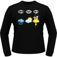 T-Shirts à manches longues  parodique Sangoku et Pikachu : Météo Tokyo :) (Parodie )