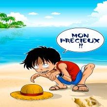 Affiche / Poster Géant HD (122 x 91 cm)  parodique Luffy et Gollum : Mon Précieux (Super Deformed) (Parodie )