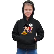 Sweat à capuche Enfant  parodique Luffy et Gollum : Mon Précieux (Super Deformed) (Parodie )