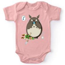 Body bébé (Filles)  parodique Totoro et Link : Ni Vu ni connu... (Parodie )