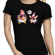 T-shirts Femmes  parodique Majin Bou et Patrick : Papa !! (Tel père, tel fils !) (Parodie )