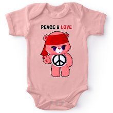 Funny  Baby Bodysuit (Baby Girls) - Care Bears - Peace man ( Parody) (Ref:342)
