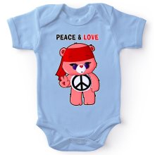 Funny  Baby Bodysuit - Care Bears - Peace man ( Parody) (Ref:342)