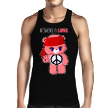 Funny  Tank Top - Care Bears - Peace man ( Parody) (Ref:342)