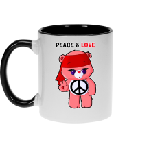 Funny  Mug - Care Bears - Peace man ( Parody) (Ref:342)