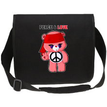 Funny  Canvas Messenger Bag - Care Bears - Peace man ( Parody) (Ref:342)