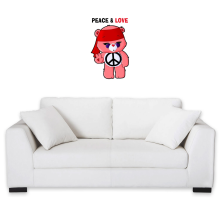 Funny  Wall Sticker - Care Bears - Peace man ( Parody) (Ref:342)