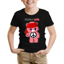 Funny  Kids T-Shirt - Care Bears - Peace man ( Parody) (Ref:342)
