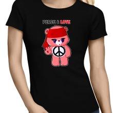 T-shirts Femmes  parodique Bisounours : Peace And Love ! (Chibi Version) (Parodie )