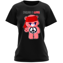 Funny  Women T-shirt - Care Bears - Peace man ( Parody) (Ref:342)