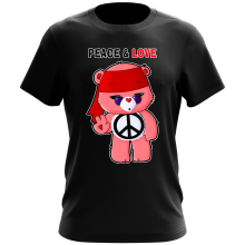 Funny  T-Shirt - Care Bears - Peace man ( Parody) (Ref:342)