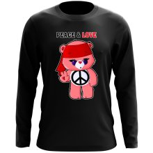 Funny  Long Sleeve Top - Care Bears - Peace man ( Parody) (Ref:342)