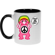 Funny  Mug - Care Bears - Peace And Love Man ( Parody) (Ref:341)
