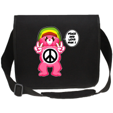 Funny  Canvas Messenger Bag - Care Bears - Peace And Love Man ( Parody) (Ref:341)
