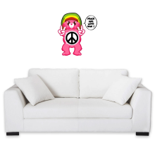 Funny  Wall Sticker - Care Bears - Peace And Love Man ( Parody) (Ref:341)