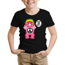 Funny  Kids T-Shirt - Care Bears - Peace And Love Man ( Parody) (Ref:341)