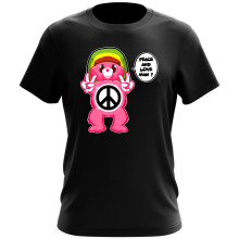 Funny  T-Shirt - Care Bears - Peace And Love Man ( Parody) (Ref:341)