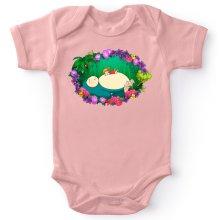 Funny Baby Bodysuit (Baby Girls) - Snorlax, Chibi Misty and Totoro ( Parody)
