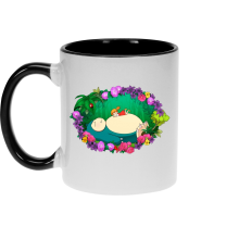 Funny Mug - Snorlax, Chibi Misty and Totoro ( Parody)