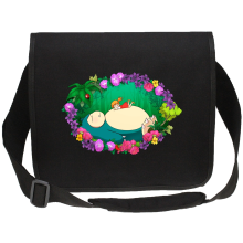 Funny Canvas Messenger Bag - Snorlax, Chibi Misty and Totoro ( Parody)