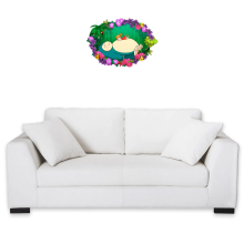 Funny Wall Sticker - Snorlax, Chibi Misty and Totoro ( Parody)
