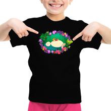 Funny Girls Kids T-shirt - Snorlax, Chibi Misty and Totoro ( Parody)