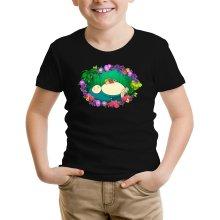 Funny Kids T-Shirt - Snorlax, Chibi Misty and Totoro ( Parody)