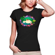T-shirts Femmes  parodique Ronflex et Ondine sauce Totoro : Petite sieste en forêt... (Parodie )