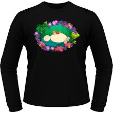 T-Shirts à manches longues  parodique Ronflex et Ondine sauce Totoro : Petite sieste en forêt... (Parodie )