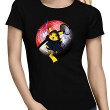 T-shirts Femmes  parodique Pikachu et Palpatine Darth Sidious : Pika Dark Side :) (Parodie )